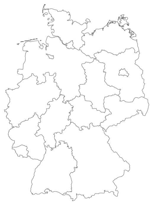 Deutschlandkarte Aufsichtsbehörden in Deutschland